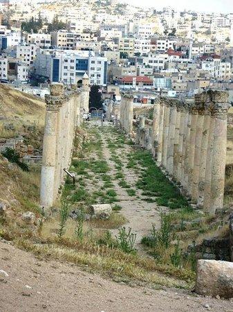 Ruines de Gérasa : Strada Colonnata