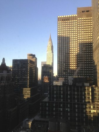 Waldorf Astoria New York: Lovely sunlight on the Chrysler building.