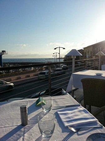 Hotel Corallo : Terasse pour le dîner