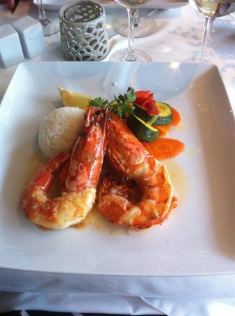 O Patio: Tiger prawns
