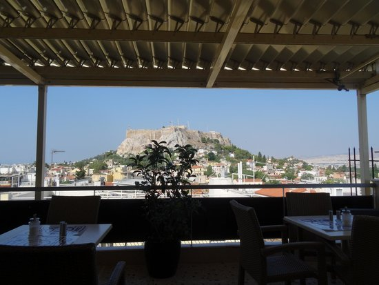 Adonis Hotel: View of Acropolis from Dining Room