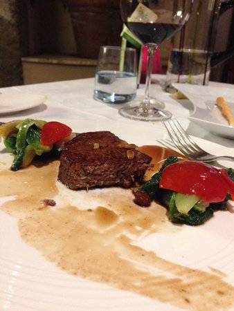 il buco Sorrento: Overcooked beef filet served by the chef on the tasting menu!