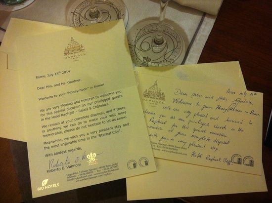 Hotel Raphael: Honeymoon Congratulations