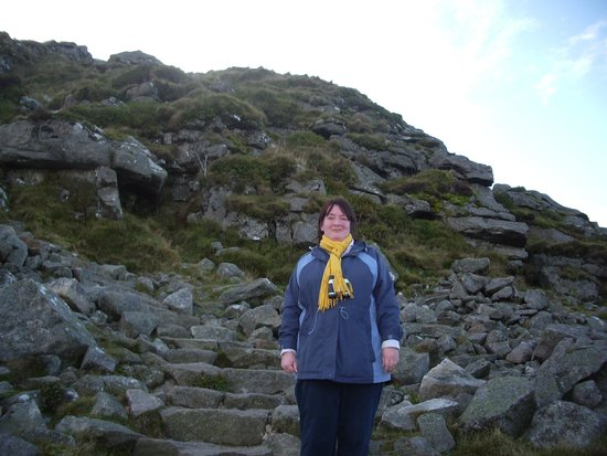 Bennachie Hill Walks: Me near the top of Mither Tap