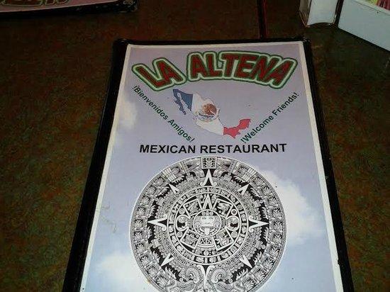 La Altena: Menu Cover