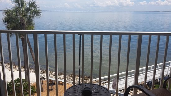 Sailport Waterfront Suites : View from balcony, no beachfront access
