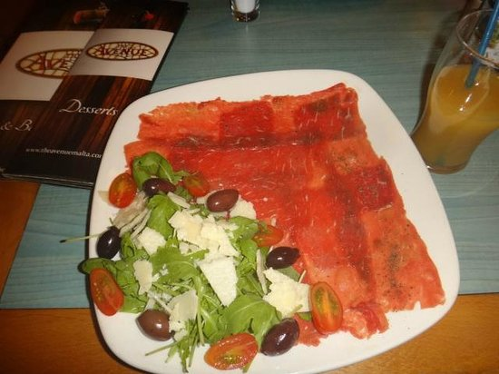 The Avenue: Beef Carpaccio