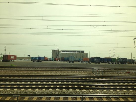 BEST WESTERN Plus Newark Airport West: View from the train station