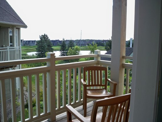 Blue Mountain Rivergrass: balcony view from unit # 221