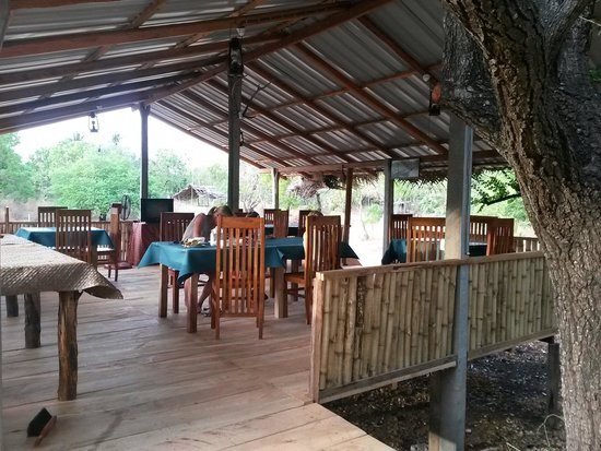 Clay Hut Village: The new restaurant overlooking the water.
