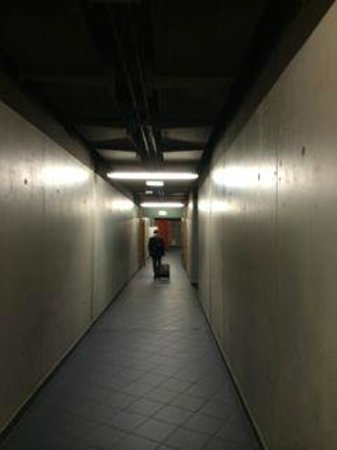 Hotel D'Coque : One of the many long corridors you have to walk