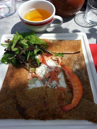 Le Cap Coz : Crêpe terre et mer