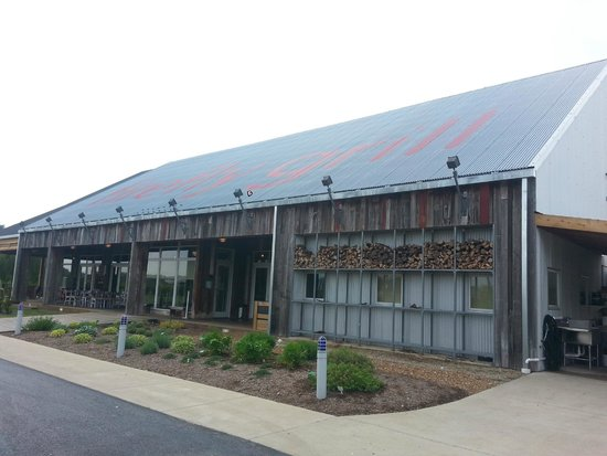 firefly grill: Front of restaurant and herb garden
