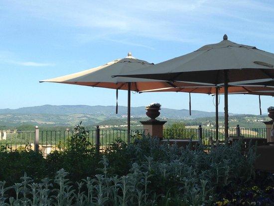 Castello del Nero Hotel & Spa : Patio for breakfast, drinks, sitting
