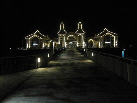 Seebruecke Sellin : Seebrücke bei Nacht