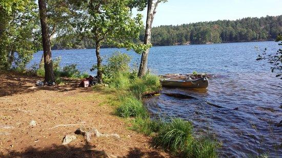 Delsjön : Lätt att ta sig i land