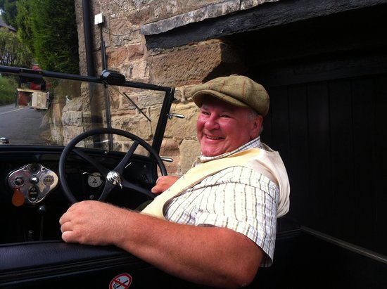 Old Shoulder of Mutton : Steven in his 1929 Ford