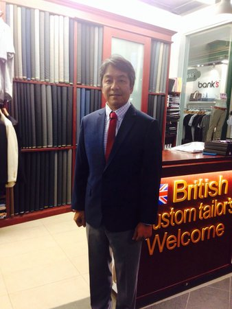 British Custom Tailors: First time since I'm living Bangkok order suits ,I'm very satisfy to finished so beautiful and T