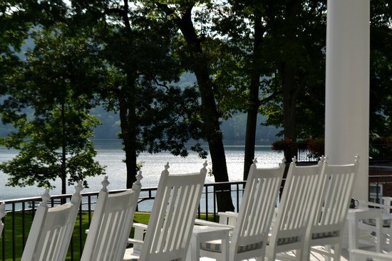 The Otesaga Resort Hotel: View from porch - -
