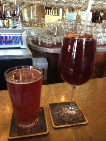 Bethlehem Brew Works: Blueberry beer and sangria..