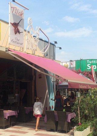 Tilak Restaurant: The restaurant front in S'Agaró High Street