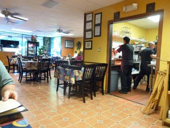 Little Hacienda Mexican Restaurant : Dining area & kitchen