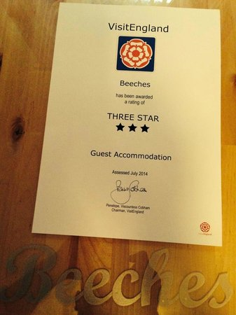 The Beeches Hotel, Blackpool: Beeches Star Rating
