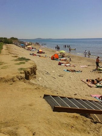 Camping Mediterranee-Plage: plage juillet 2014