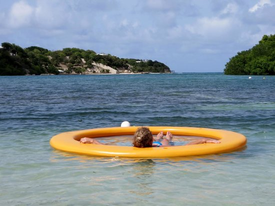 The Verandah Resort & Spa: Those big yellow floats