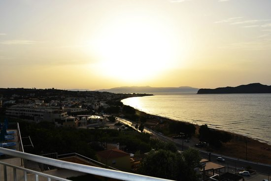 Renieris Hotel: View of the sunset from our balcony.