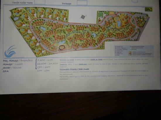 Vale da Lapa Resort & SPA: Plan du site remis à l'arrivée