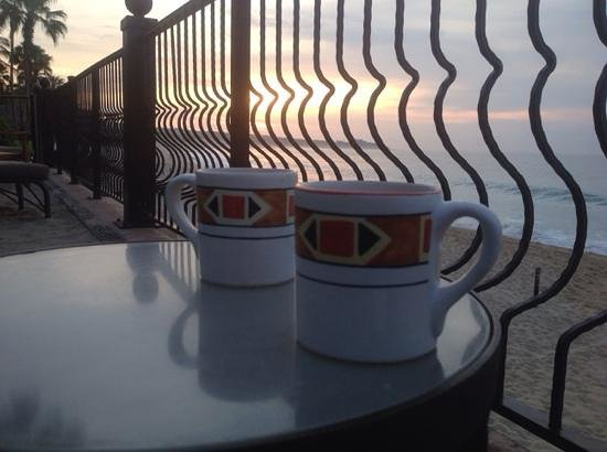 Villa del Arco Beach Resort & Spa: Morning coffee at Villa del Arco !!!