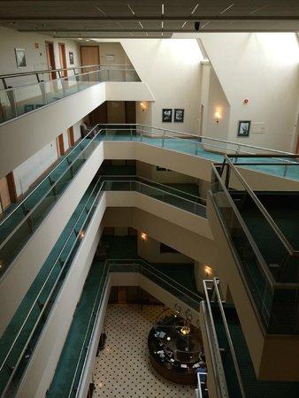 Radisson Blu Ridzene Hotel : Inside the hotel (reception at the bottom)