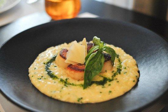 Le Séjour Café : Scallop risotto.
