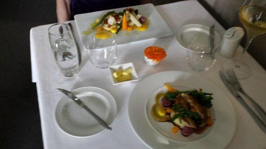 Chez Roux: Our dinner entrees