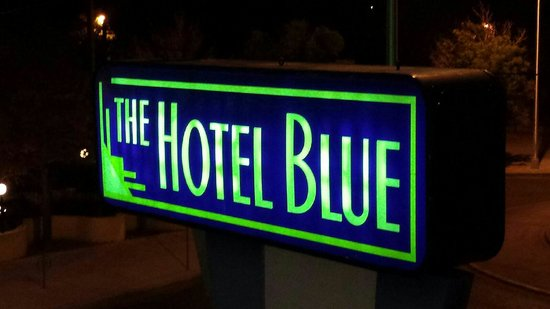 The Hotel Blue : Sign