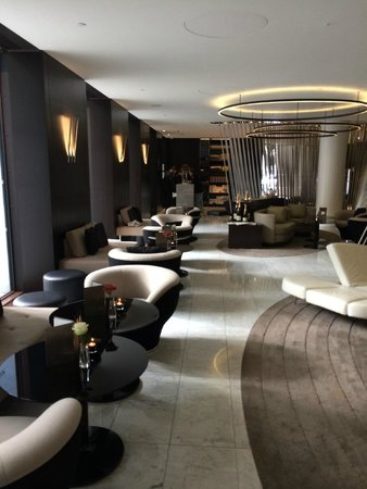 ME by Melia London : long seating area for downstairs bar