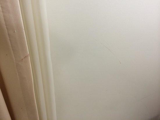 Alva Donna Exclusive Hotel & Spa: Грязные шторы и стены в номере