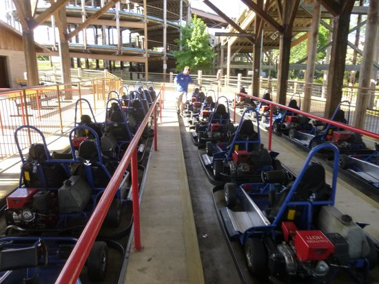 The Track Family Fun Parks: In the go-cart queue