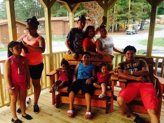 Yogi Bear's Jellystone Park Camp-Resort Luray: On the porch of the Cabin