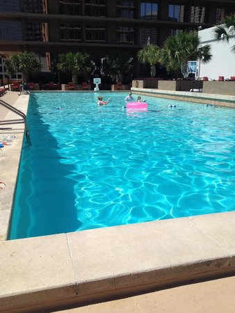 The Fairmont Dallas: Even inner tubes are available for mindless floating.