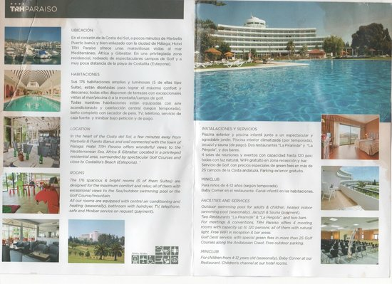 Hotel TRH Paraiso Costa del Sol: Info card from hotel room