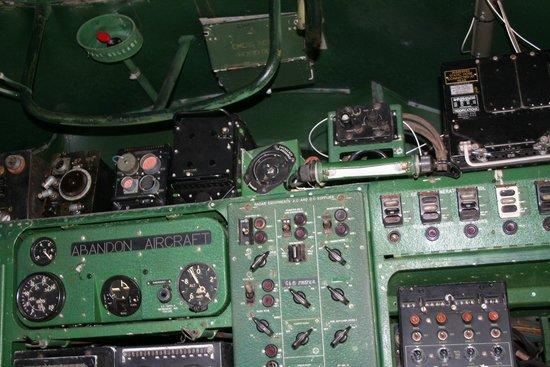 Highland Aviation Museum: inside a plane