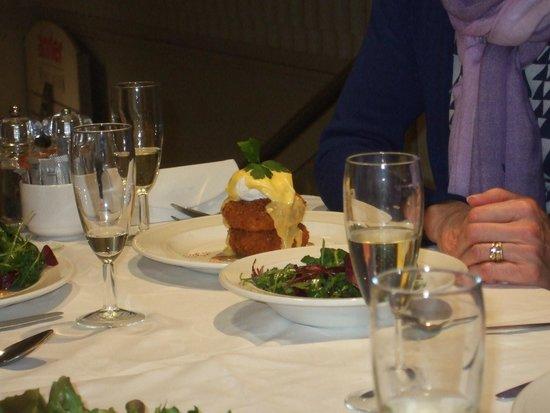 Michael Frith at Bennetts Brasserie: Fishcakes