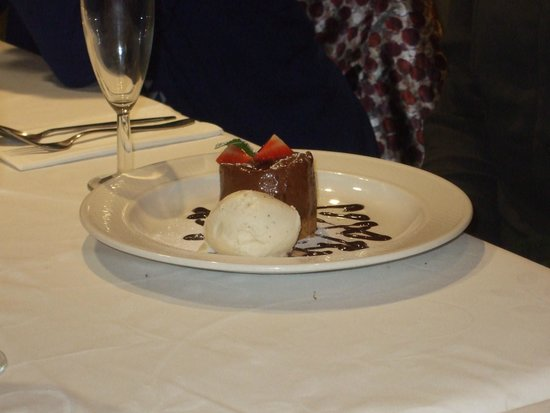 Michael Frith at Bennetts Brasserie: Delicious puddings!