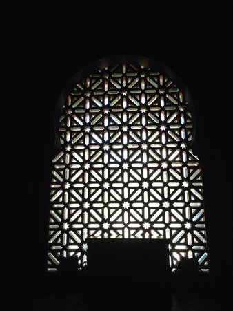 Mosque-Cathedral of Cordoba: window Inside the mosque