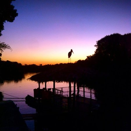 Pantanal Mato Grosso Hotel: Sunset over the river