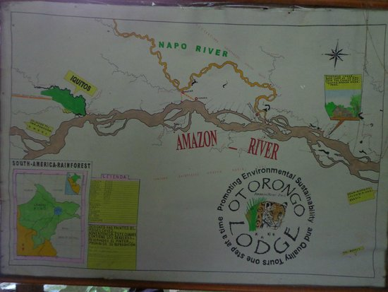 Otorongo Expeditions Jungle Lodge : Map of the lodge location.