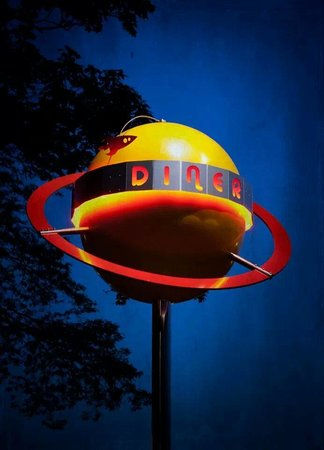 The Tube Diner: Tube Diner Planet Sign