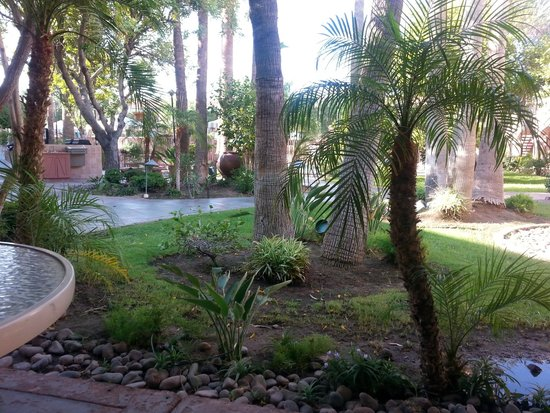 La Fuente Inn & Suites: Courtyard view from Dining Room Patio